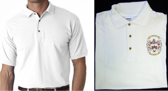 Short Sleeve Cotton Jersey Polo/Golf Shirt with Coat of Arms