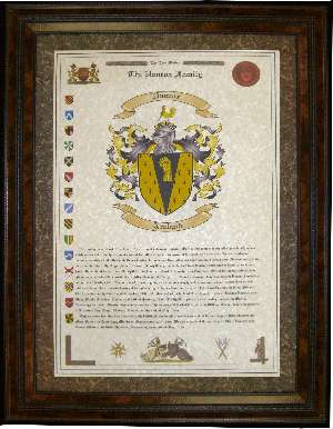Short Last Name Origin & Large Coat of Arms