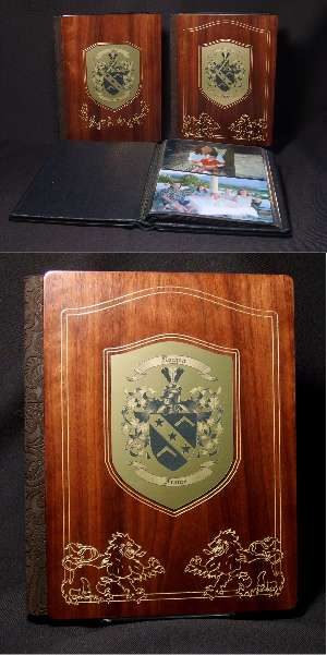 Wedding Photo Albums � Personalized Wedding Album in Wood / Leather