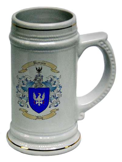 German Beer Stein with Family Crest / Coat of Arms