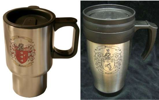 Travel Mug with Family Crest / Coat of Arms