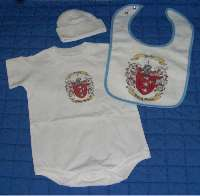Baby Gift Set Two: Onesie, Newborn Cap and Bib.