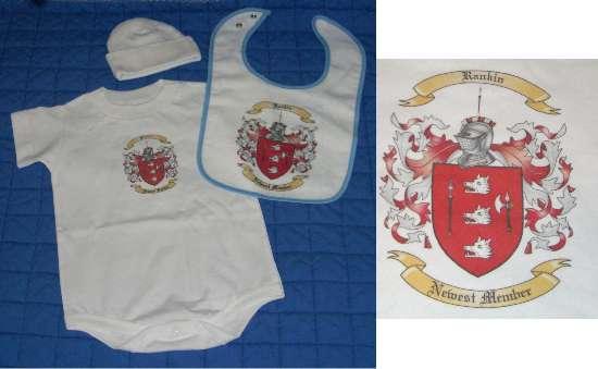 Baby Gift Set 2: Onesie, Bib, & Newborn Cap