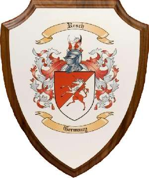 Colored Coat of Arms on Wooden Wall Plaques