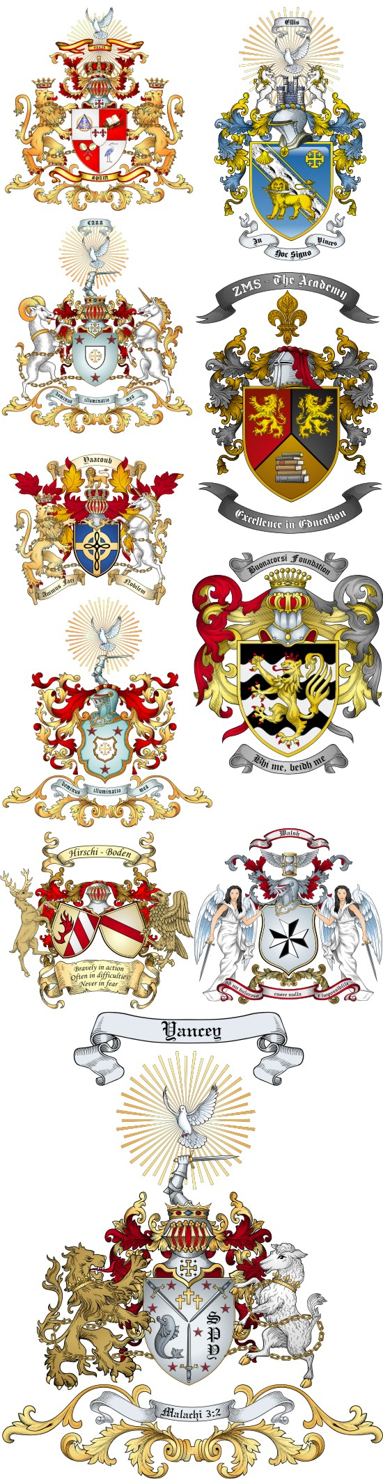 Advanced Artwork Coat of Arms Samples by The Tree Maker