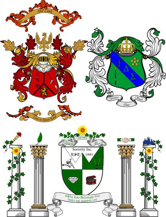 Fraternity and Sorority Emblems Coat of Arms