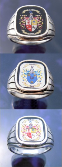Family Crest Rings Coat of Arms Ring Sterling Silver