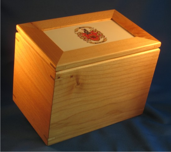 Cooking Recipe Box with Your Coat of Arms � Recipe Card Holder