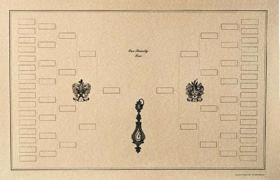 Beautiful Blank Diagram of a Family Tree Genealogy Chart