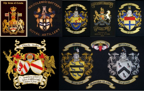 Machine Embroidery Designs and Hand Embroidery Patterns for a Coat of Arms
