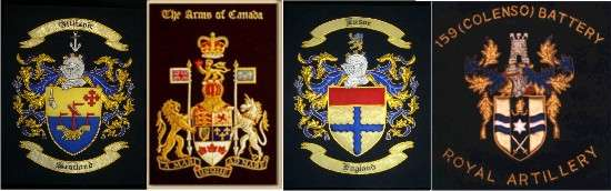Custom Machine Embroidery Design or Hand Embroidery Coat of Arms Designs