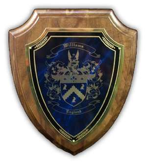Engraved Coat of Arms � Great Birthday Gift!!