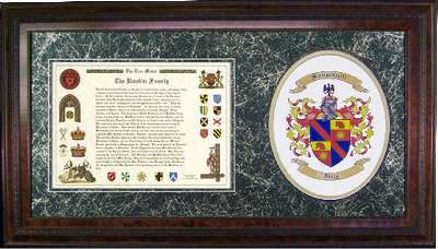 Family Coat of Arms shield and Heritage Christmas Present