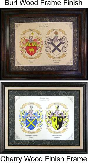 Double Family Coat of Arms, a Unique Christmas Present Idea