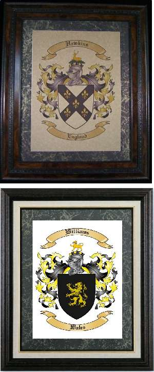 Single Family Coat of Arms and Family Crest Christmas Present Idea