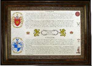 Wedding Gift for a Two-Coats of Arms Display