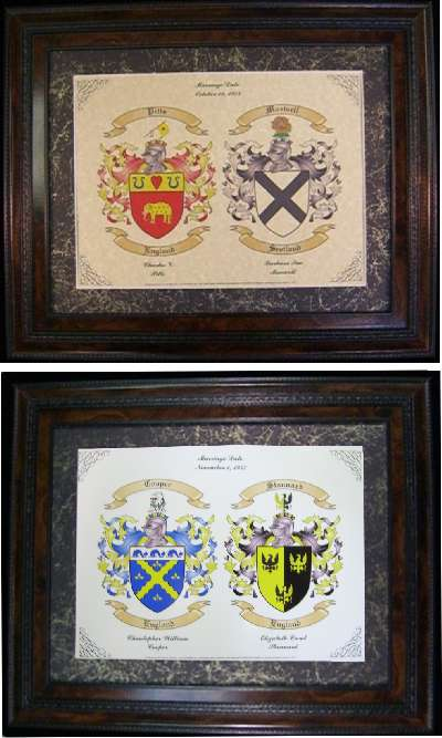 Wedding Gifts Or Anniversary Gift Beautiful Family Coat Of Arms