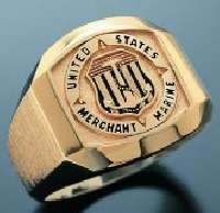 Merchant Marine Ring engraved with the insignia you want.