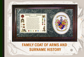 Surname History and Family Shield Combination.