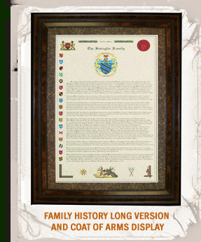 Family History Long Version and Coat of Arms Display.