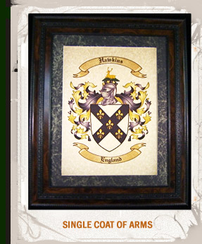 Single Coat of arms and Family Crest.
