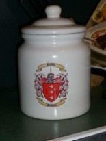 Cookie Jar - Canister with Coat of Arms and Family Crest