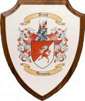 Decorative Wall Plaque with Coat of Arms in Color