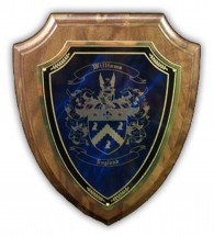 Coat of Arms laser Engraved Marble Wooden Wall Plaques