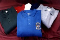 Embroidered Golf Shirt / Polo Shirt with Coat of Arms