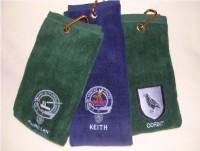 Personalized Golf Towel with Embroidered Coat of Arms