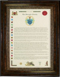 Family History Long Version and Coat of Arms Display