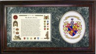 Family Coat of Arms and Surname History in Burl Wood.