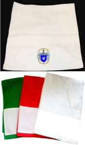 Kitchen Towels or Hand Towel with Family Crest / Coat of Arms
