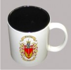 Two Tone Coffee Cups with Coat of Arms and Family Crest
