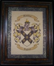 Coat of Arms Print with Family Crest
