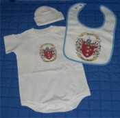 Baby Gift Set 2 Onesie, Bib, and Newborn Cap