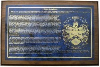 Family Name Plaque with Coat of Arms and Long History