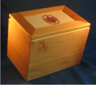 Cooking Recipe Box with Your Coat of Arms – Recipe Card Holder