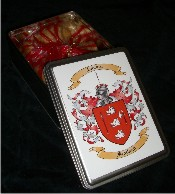 Gourmet Cookies with Tin Box with Your Coat of Arms
