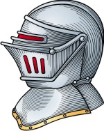 Coat of arms knight helmet. Advanced clipart for family