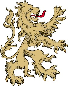 advanced lion clipart for custom coat of arms