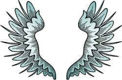 Advanced Wing 4 Clip Art