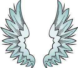 Advanced Wing 5 Clip Art