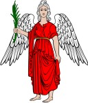Simplistic Angel 3 with Palm Branch