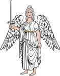 Simplistic Angel 8 With Sword