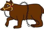 Simplistic Bears-Bulls 6 Passant Muzzled and Chained
