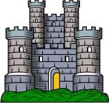 Clip Art Clipart Castle medieval castle clip art for family coat of arms simplistic tower 4