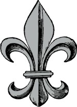 Fleur de lis for Custom Coat of Arms & Family Crest Clip Art