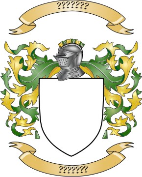 Coat of arms shield. Mantling clip art for