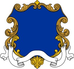 Coat of arms shield. Clip art for family